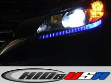Hyper Blue LED Light Headlights strip bulbs for 2013 and up Honda Accord 4dr