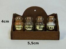 étagère épices miniature,  maison de poupée, vitrine,bouteille,épice *CL6