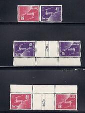 ISRAEL 1950 UPU (Scott 31-32 tete beche gutter pairs and normal) VF MNH