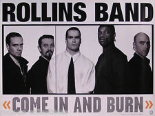 Rollins Band 1997 Come In And Burn Original Promo Poster