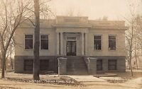 Real Photo Postcard Carnegie Library in Rocky Ford, Colorado~108330
