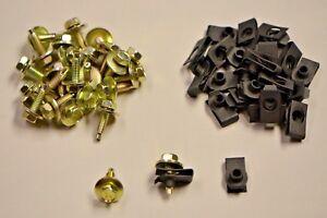 "Valance Body Bolts & U Nuts Black Zinc Coated 1/4-20 x 7/8"" Hex Dog Point GM"