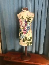 """New listing 26"""" Tall Decorative Table Top Cloth and Wood Mannequin/Miniature Dress Form"""