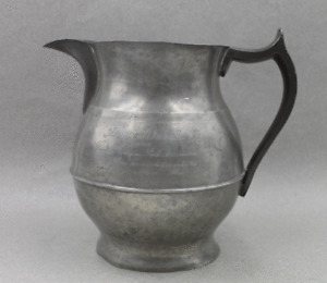Antique 1865 American Galloping Trotting Horse Racing Trophy Pewter Pitcher