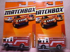 Matchbox Hazard Squad Fire Truck Diecast Car Lot of 2: New In Package!