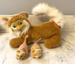 Vintage Kitty Surprise Plush Toy Mama Cat with 2 Kittens Vintage Hasbro 1992