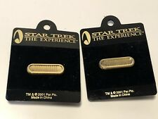New Star Trek Federation Uniform Deluxe 5 Year Service Pin Lot Of 2 Pins Cosplay