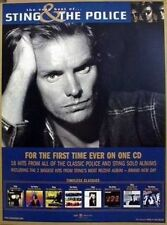 Sting & The Police 2002 best of promotional poster Flawless New Old Stock