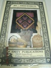 AMISH BASKETS 001 Amity Publications Quilt Pattern 1984