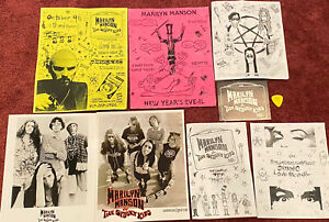 Marilyn Manson & The Spooky Kids - Lot of 6 Show Flyers 2-8x10's & Guitar Pick