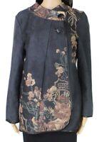 Radzoli Women's Jacket Pink Blue Size Large L Floral Printed Seamed $98 #199