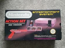 Nintendo Entertainment System NES Action Set Grey Console PAL Boxed with Mario