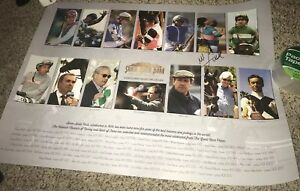 Mike E. Smith Signed Santa Anita HOF Poster with Exact Proof Justify 18x24