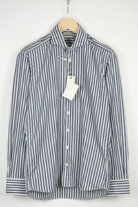 SUITSUPPLY EGYPTIAN COTTON Men Extra Slim Fit Stripped Formal Shirt 19807