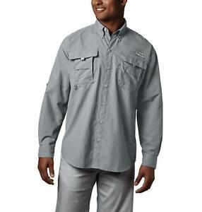 Columbia Mens Bahama II Grey Long Sleeve Shirt