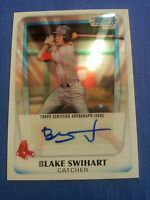 BLAKE SWIHART 2011 BOWMAN CHROME CARD BCAP-BSW RED SOX( ROOKIE DRAFT AUTOGRAPH )