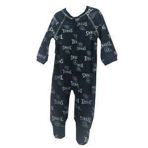 Tennessee Titans NFL Apparel Baby Infant Size Pajama Sleeper Bodysuit New W Tags