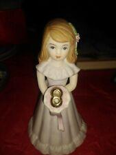 Enesco Growing Up Birthday Girls Porcelain Figurine - Age 8 1981