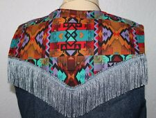 wearable art   Southwest    Aztec   Denim     Vest     Large