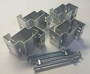 """Postfix® Slotted Concrete Fence Post Brackets to Fit 4"""" x 5"""" Posts 4 SETS"""