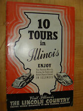 1940 10 Tours in Illinois by Car State Parks Historic Sites Shrines Memorials +