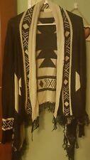 Women's NAVY Open Cardigan Sweater~Hippie-Boho-Native American~Sz.L/XL/XXL~Cute