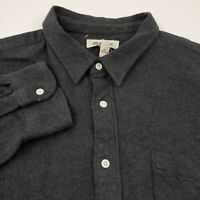 Madewell Flannel Shirt Long Sleeve Mens Size XL Solid Gray Cotton
