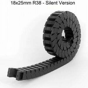 18x25mm R38 Cable Drag Chain Towline Wire Carrier Quiet CNC Router 3D Printer