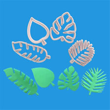 New 4Pcs Tropical Leaf Fondant  Mold Embossed Candy Biscuits Cookie Cutter Mould