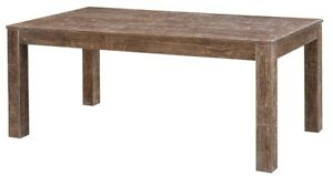 """72"""" L Lorenza Table Rustic Multi Color Blue Green Finish Solid Pine Wood"""
