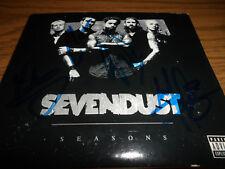 SEVENDUST SIGNED/AUTOGRAPHED SEASONS CD LAJON WITHERSPOON + 3