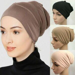 Muslim Fashion Cotton Inner Hijab Tube Caps Islamic Women Underscarf Hats