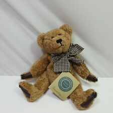 Boyds Bear Plush Barnaby Teddy Bear Small Brown Jointed Nwt Soft Bean Bag 9in
