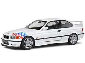 BMW M3 E36 coupe diecast model road car white body 1:18th scale SOLIDO 1803903