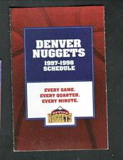 Denver Nuggets--1997-98 Pocket Schedule--Key Bank