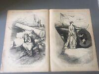 ORIGINAL HARPER'S WEEKLY NEWSPAPER,N. Y., 1875, Thomas Nast Wood Engravings