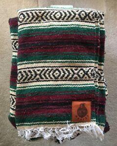 WRMFZY Vaquero Blanket, Burgandy/Forrest Green/Tan, a rare color combo!