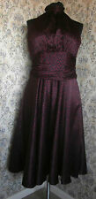 Black & red spotty silky sheen party dress by PAPAYA Size 14 NWT
