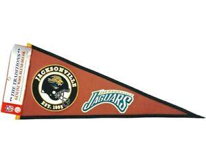 NFL Jacksonville Jaguars Logo Pigskin Embroidered Wool Blend Football Pennant 31