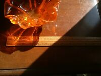 Orange glass bowl