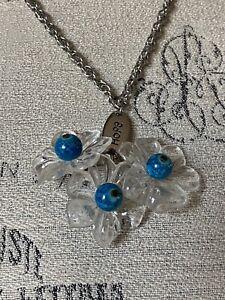 Upcycled Hope Beaded Flower Charm Necklace
