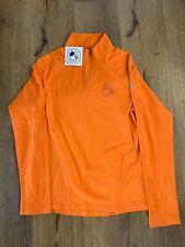 NWT Womens Under Armour Baltimore Orioles 1/2 Zip Orange Heatgear O Pullover Med