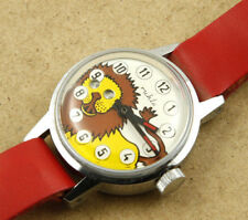 Ruhla Lion Moving Eyes Mechanical Children Watch 29mm New Old Stock
