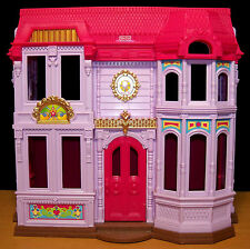 2010 Fisher Price Loving Family Manor Fold-Up & Carry Dollhouse + Baby & More