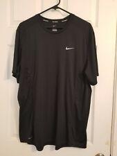 Nike Mens Dri Fit Running Shirt Size Xl Black Made In Jordan Active