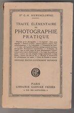 Traité élémentaire de photographie pratique Dr G.-H. Niewenglowski  1936