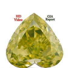 GIA CERTIFIED 0.30 Ct Natural Loose Diamond Vivid Greenish Yellow L6890 Bkk
