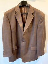 Lubiam LBM 1911 Luigi Bianchi Mantova Brown Blue Faux Tweed Wool Sport Coat 48US