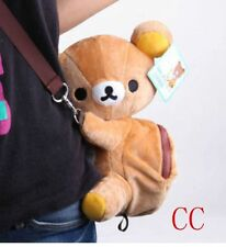 NEW Rilakkuma brown bear cute plush backpack children schoolbag shoulder bag