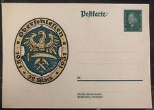Mint Germany Postcard Postal Stationary Cover Oberschlesien 1931